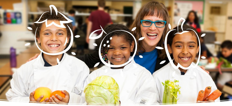 Creating friendship between kids and veggies